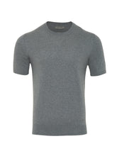 Corneliani Cashmere & Cotton Knitted T-Shirt (Grey) - Union 22