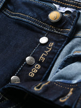 Jacob Cohen J688 Beige Badge Dark Wash Jeans (Blue) - Union 22