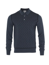 Brioni Long Sleeve 'B' Link Wool Polo (Blue) - Union 22