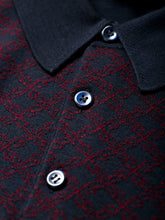 Brioni Long Sleeve 'B' Link Wool Polo (Bordeaux & Navy) - Union 22