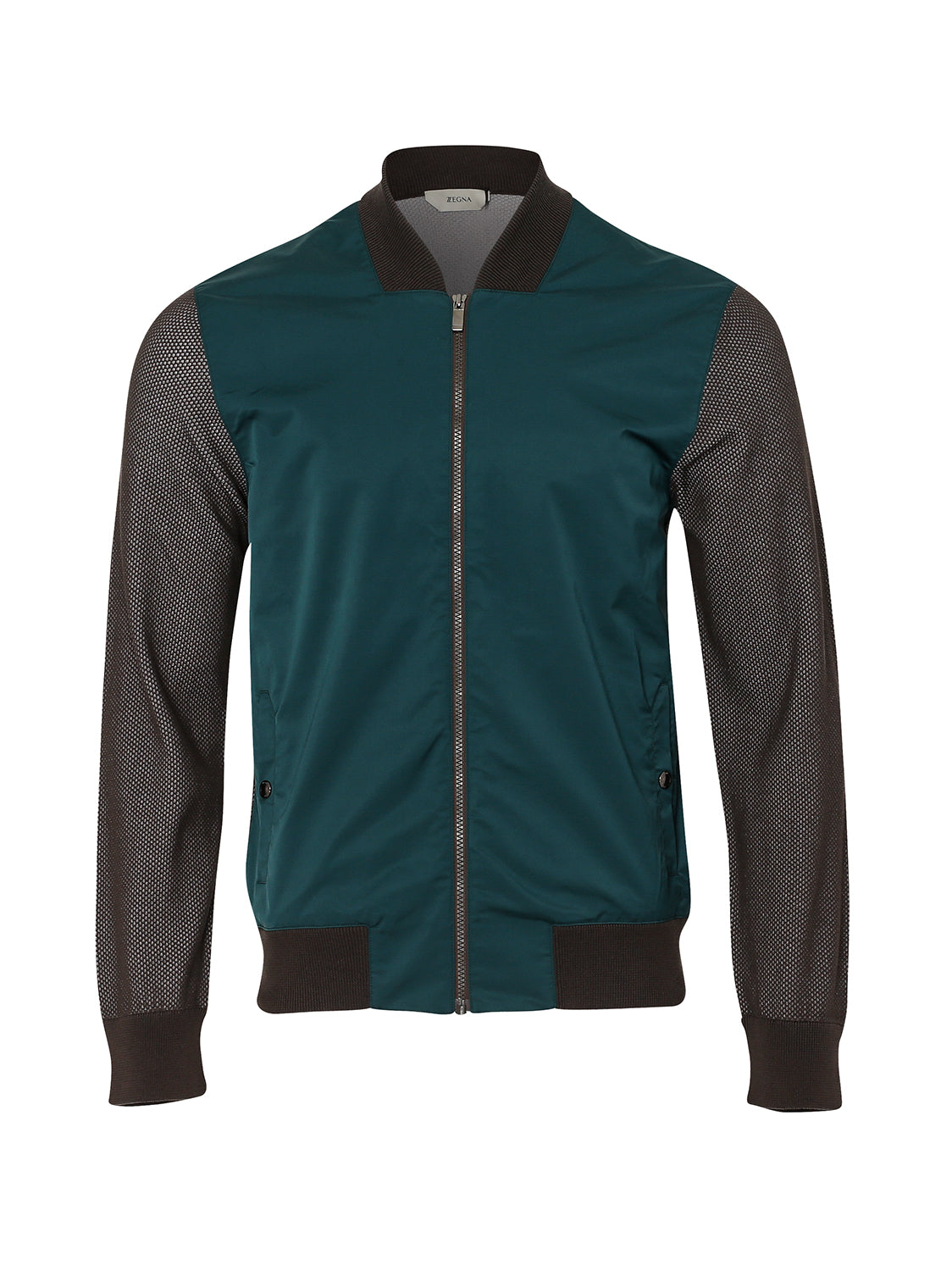 Z Zegna Contrast Bomber (Green / Brown) - Union 22