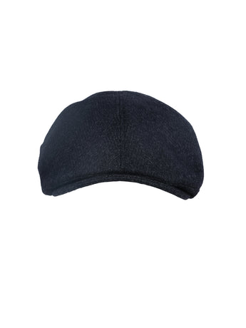Corneliani Herringbone Flat Cap (Navy) - Union 22