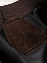 Corneliani Perforated Leather Bomber (Brown) - Union 22
