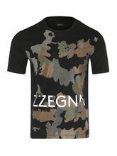 Z Zegna Camo Print T-Shirt (Black) - Union 22