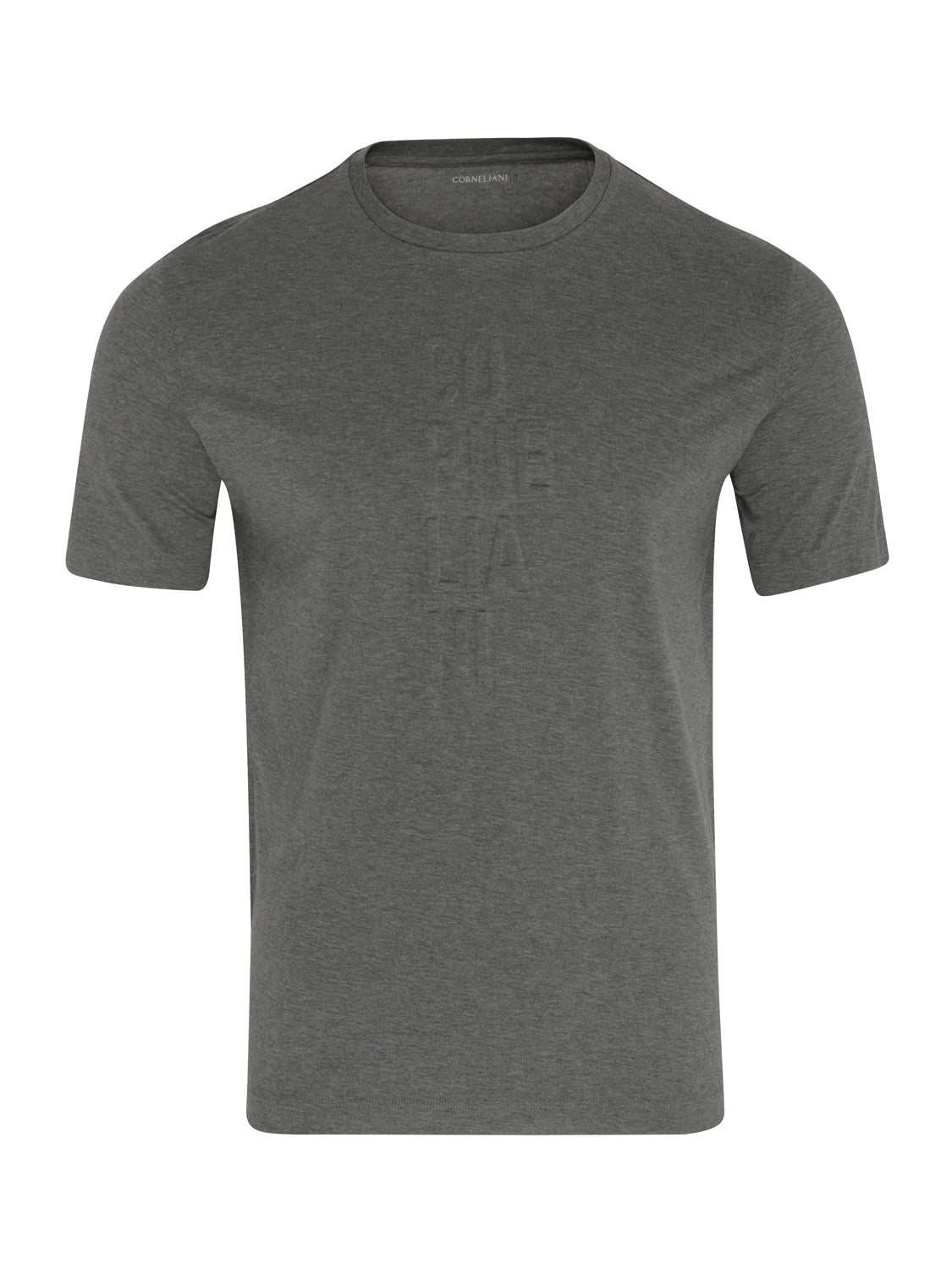 Corneliani 3D Branded T-Shirt (Grey) - Union 22
