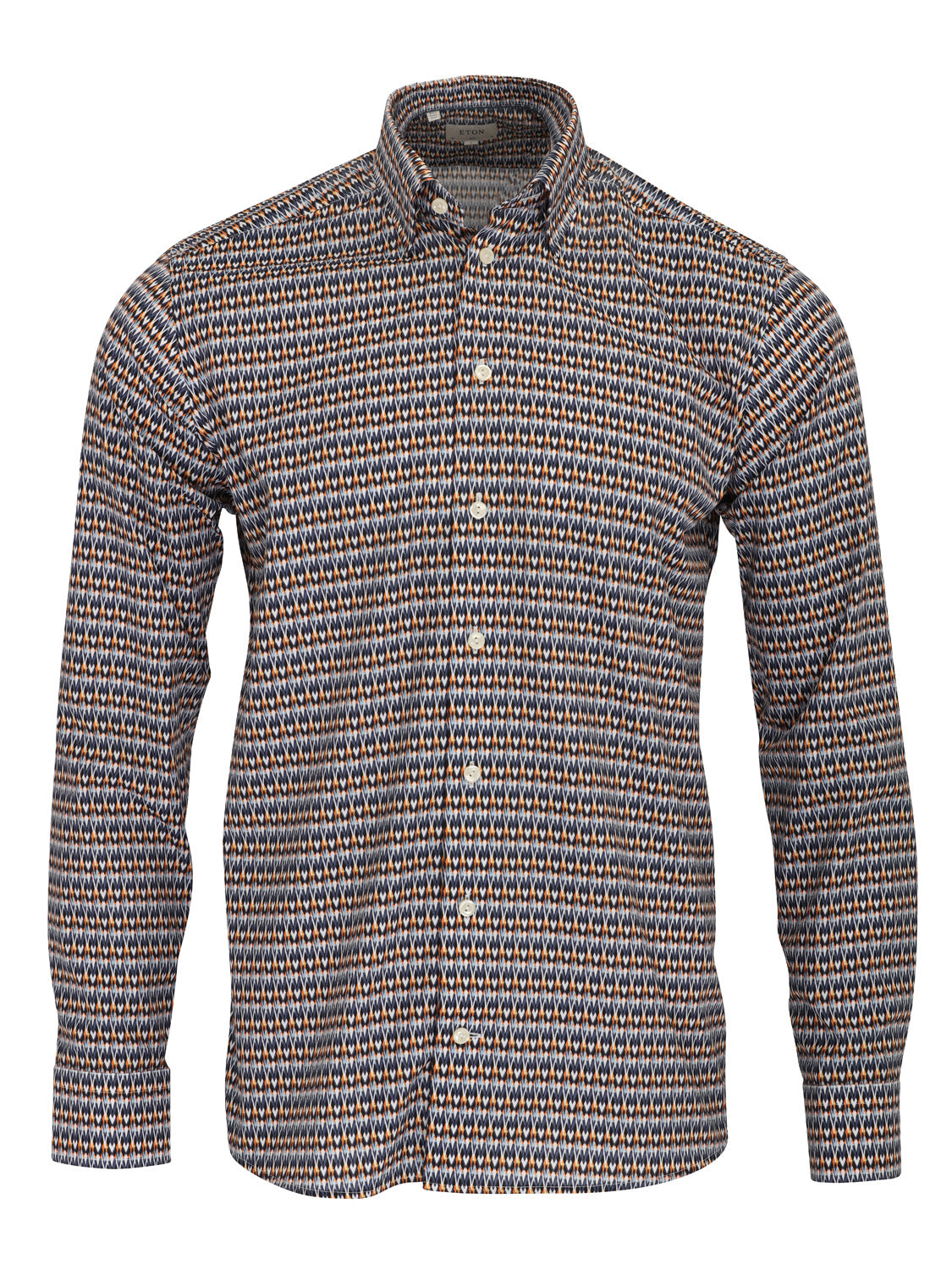 ETON Slim Fit Geometric Pattern Shirt (Blue) - Union 22