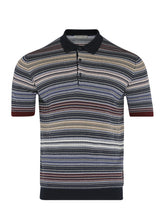 Corneliani Striped Polo (Blue) - Union 22