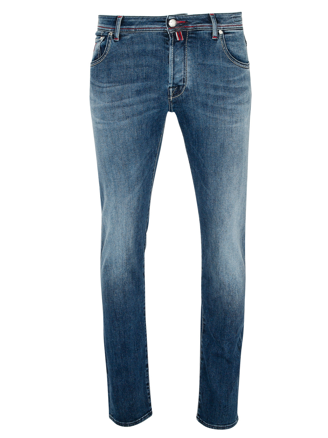 Jacob Cohen J622 Red Badge Red Stitch Jeans (Mid Wash) - Union 22