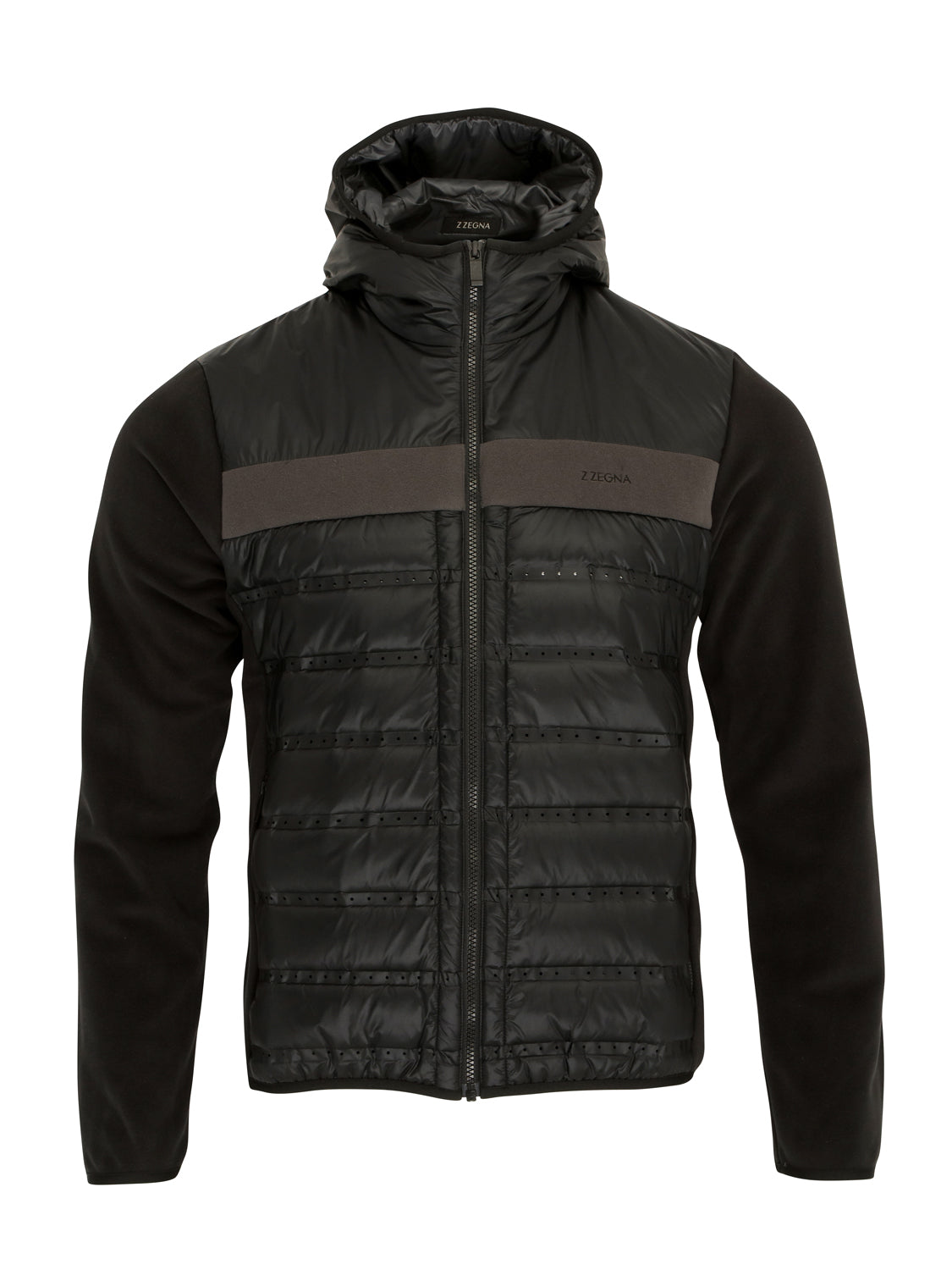 Z Zegna Quilted Hooded Jacket (Black) - Union 22