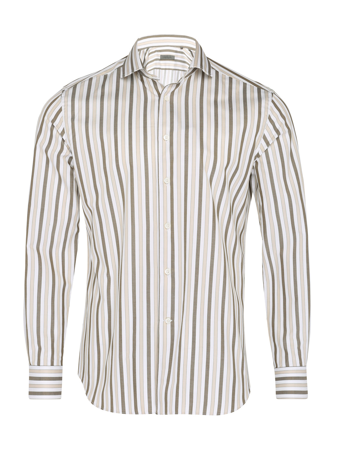 Corneliani Striped Shirt (Olive) - Union 22