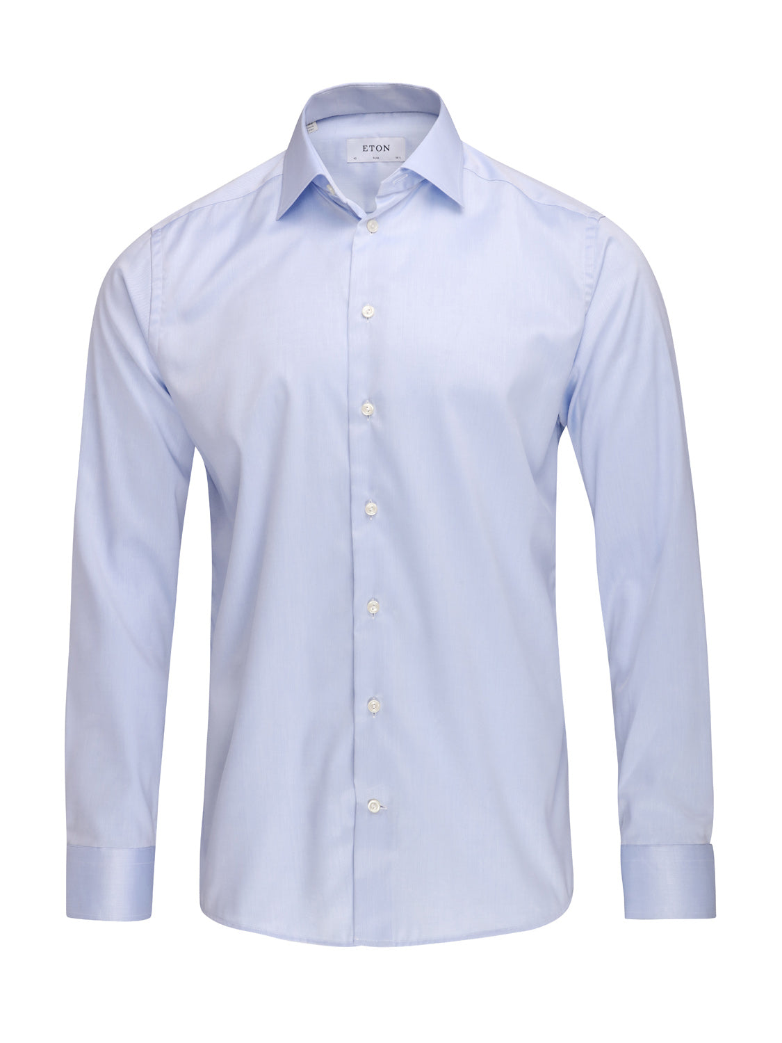 ETON Slim Fit Pointed Collar Shirt (Light Blue)