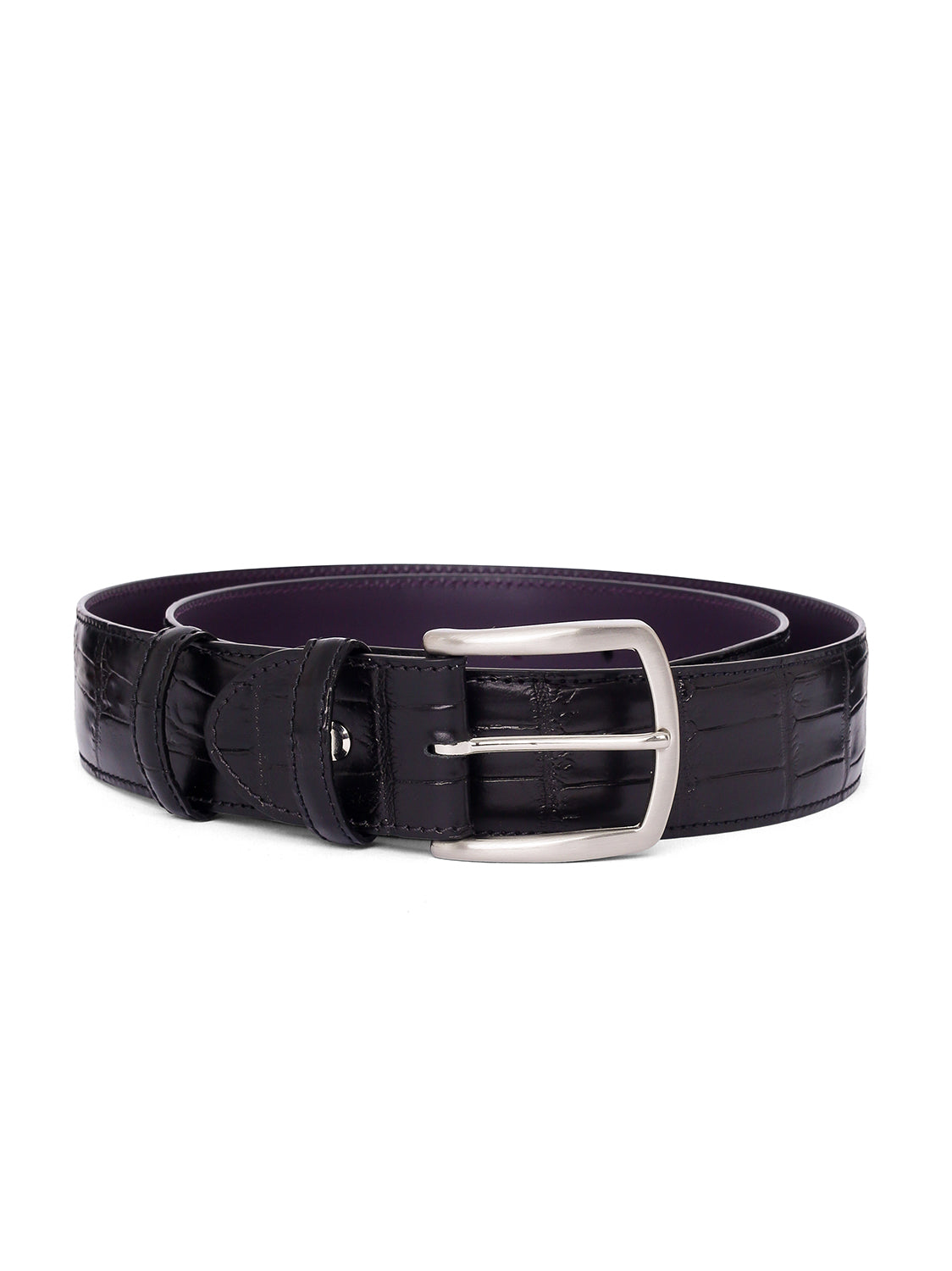 Elliot Rhodes Mock Croco Belt (Black) - Union 22