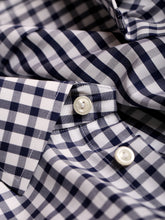 ETON Slim Fit Check Pointed Collar Shirt (Navy) - Union 22