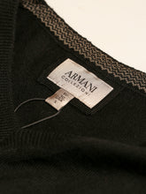 Armani Collezioni V Neck Long Sleeve Sweater (Black) - Union 22