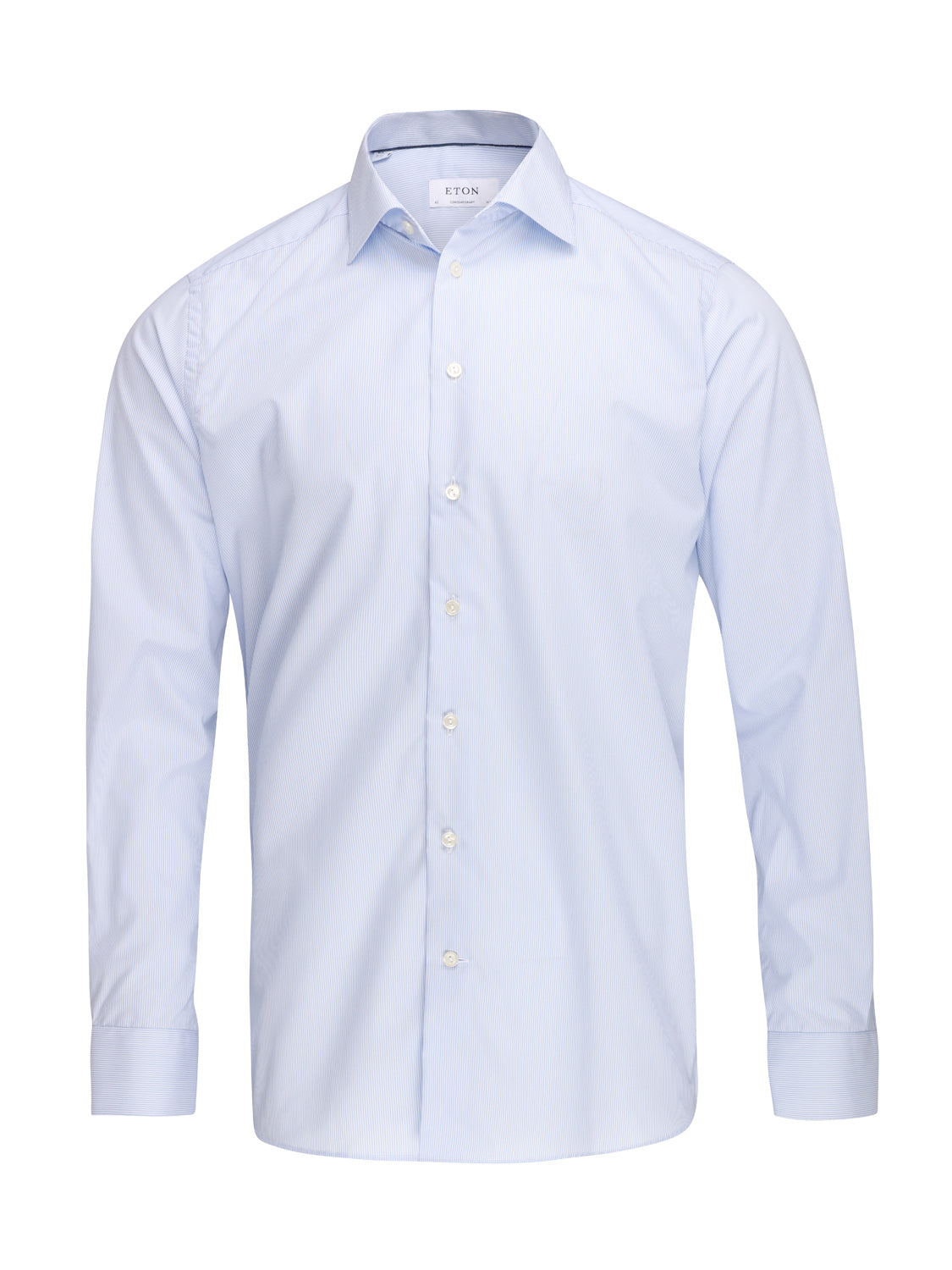 ETON Contemporary Fit Pin Stripe Shirt (Light Blue) - Union 22