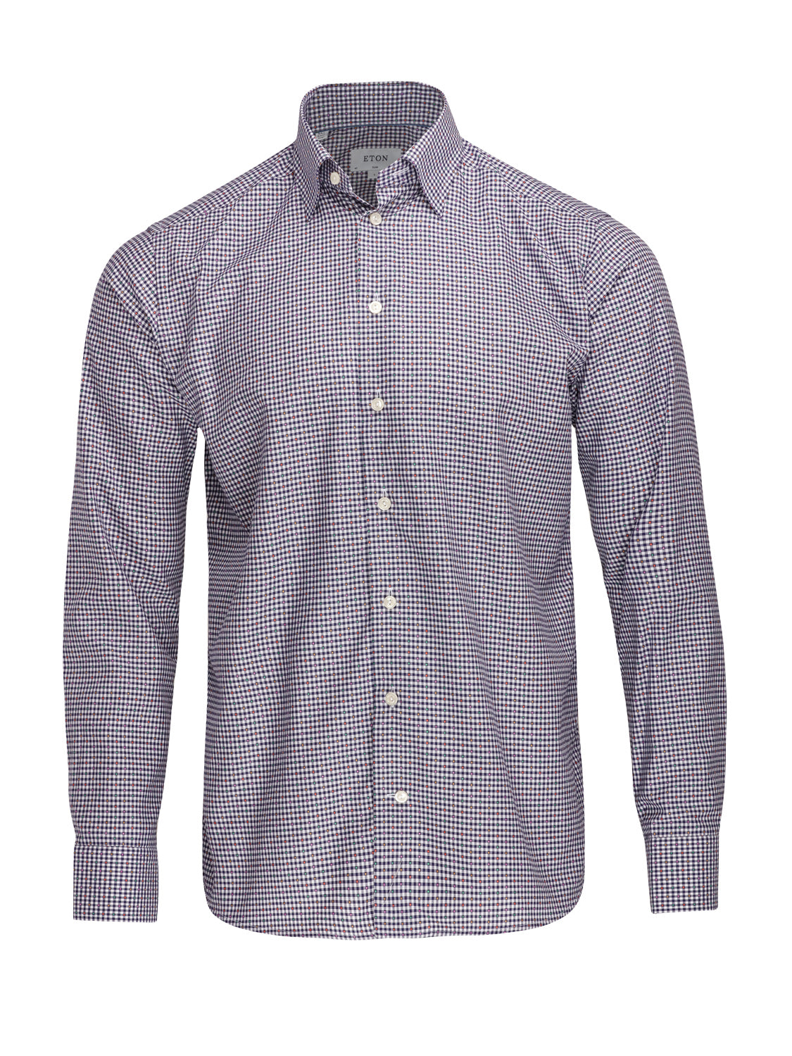ETON Micro Square Colour Check Shirt (Blue) - Union 22