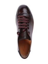 Santoni Full Leather Derby Low Top (Brown) - Union 22