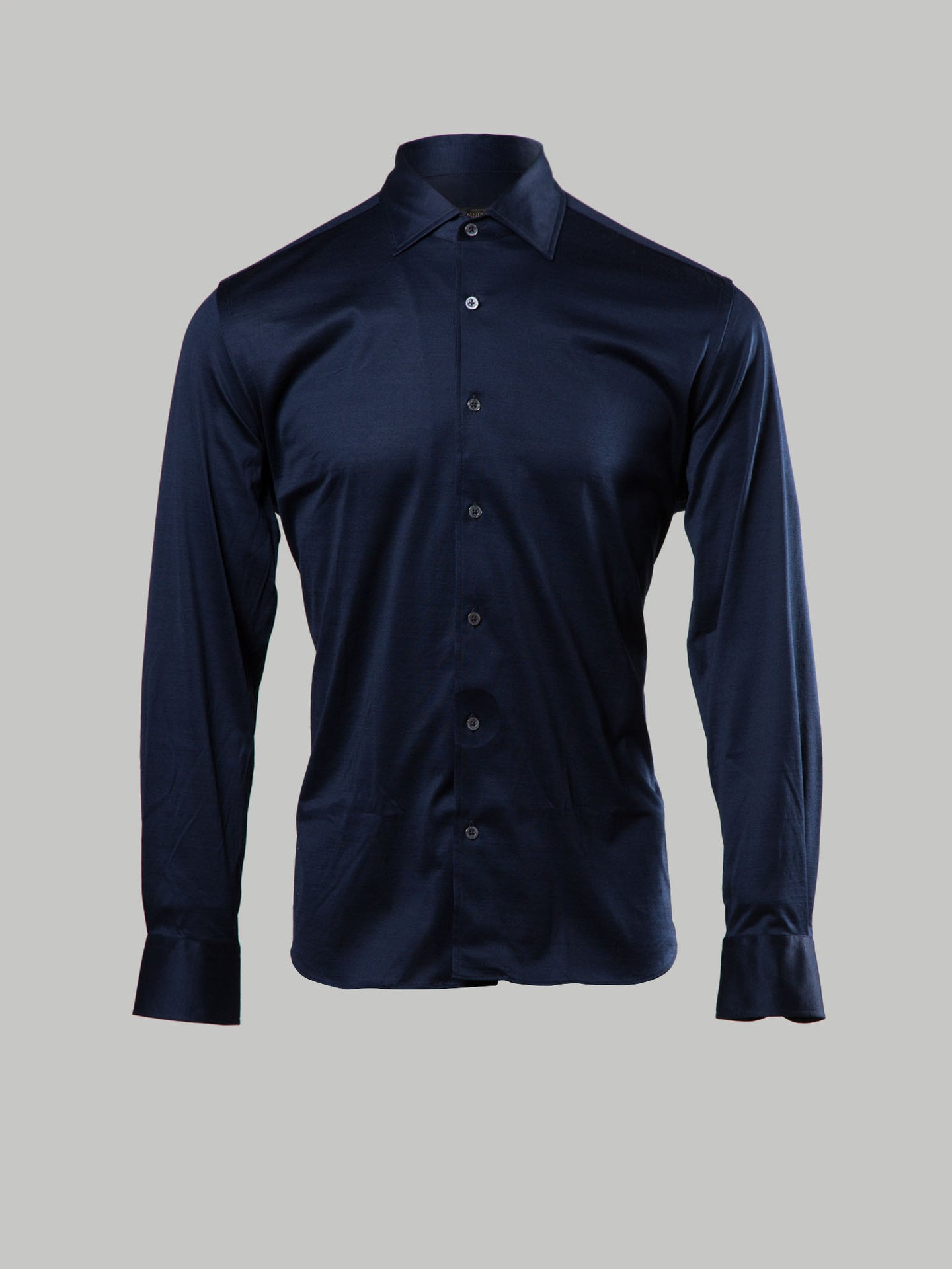 Corneliani Cut Away Collar (Navy)