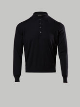 Corneliani Long Sleeve Polo (Black)