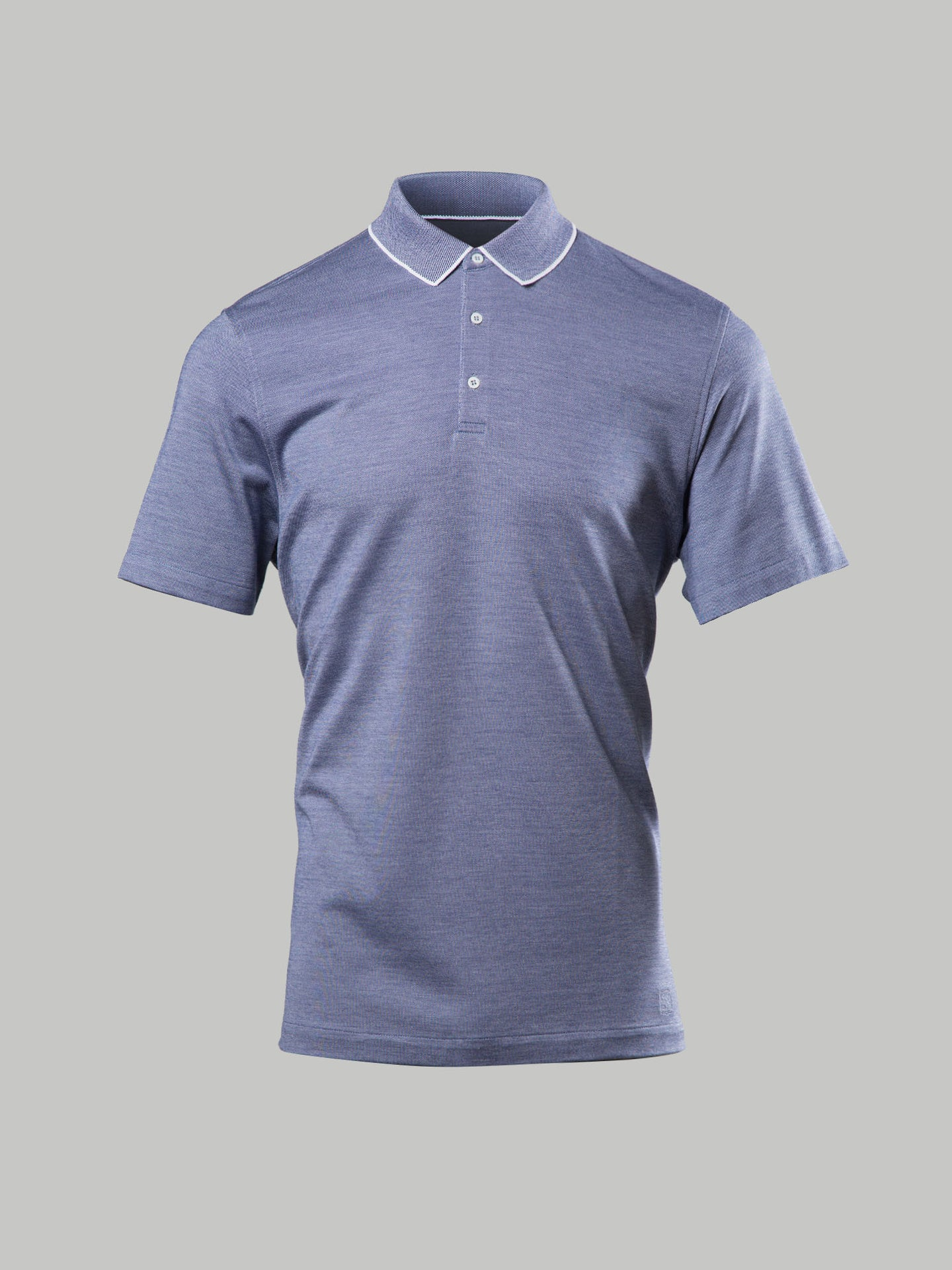 Corneliani Contrast Collar Polo (Navy)