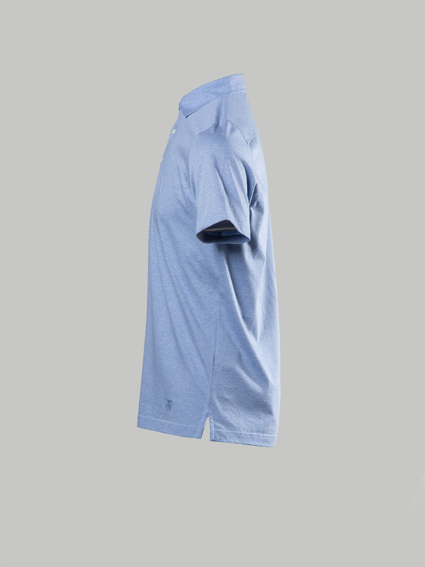 Corneliani Dot Detail Polo (Light Blue)