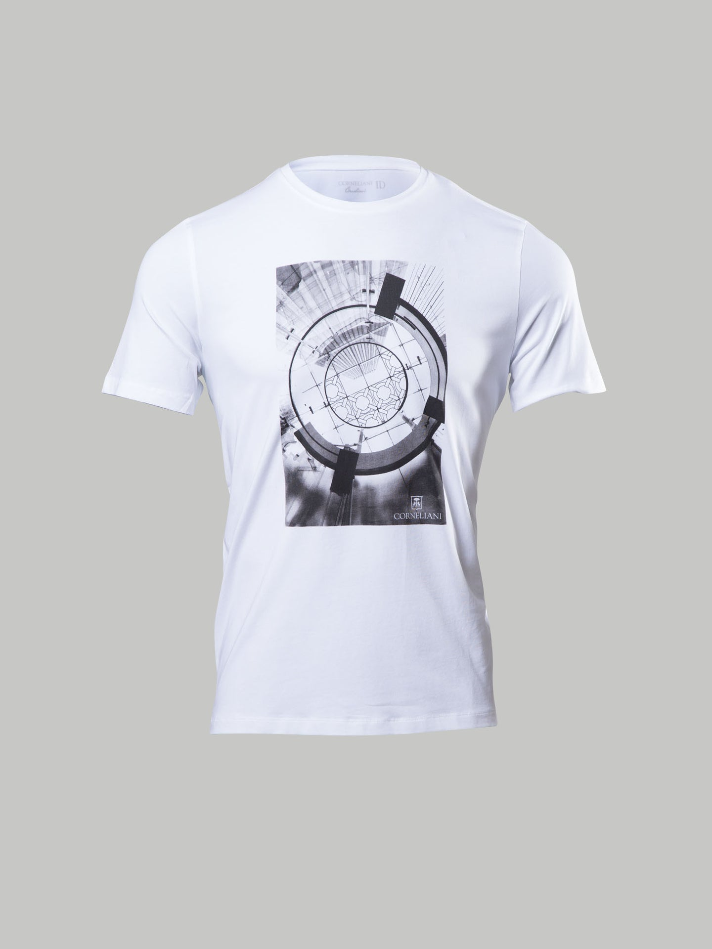 Corneliani Printed Detail Art T-Shirt (White)