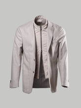 Corneliani Double Vented Light Weight Blazer With Removable Chest Piece (Beige)
