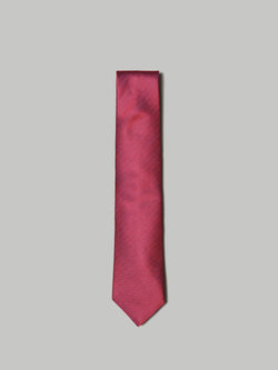 ETON Tie 100% Silk Red Herringbone