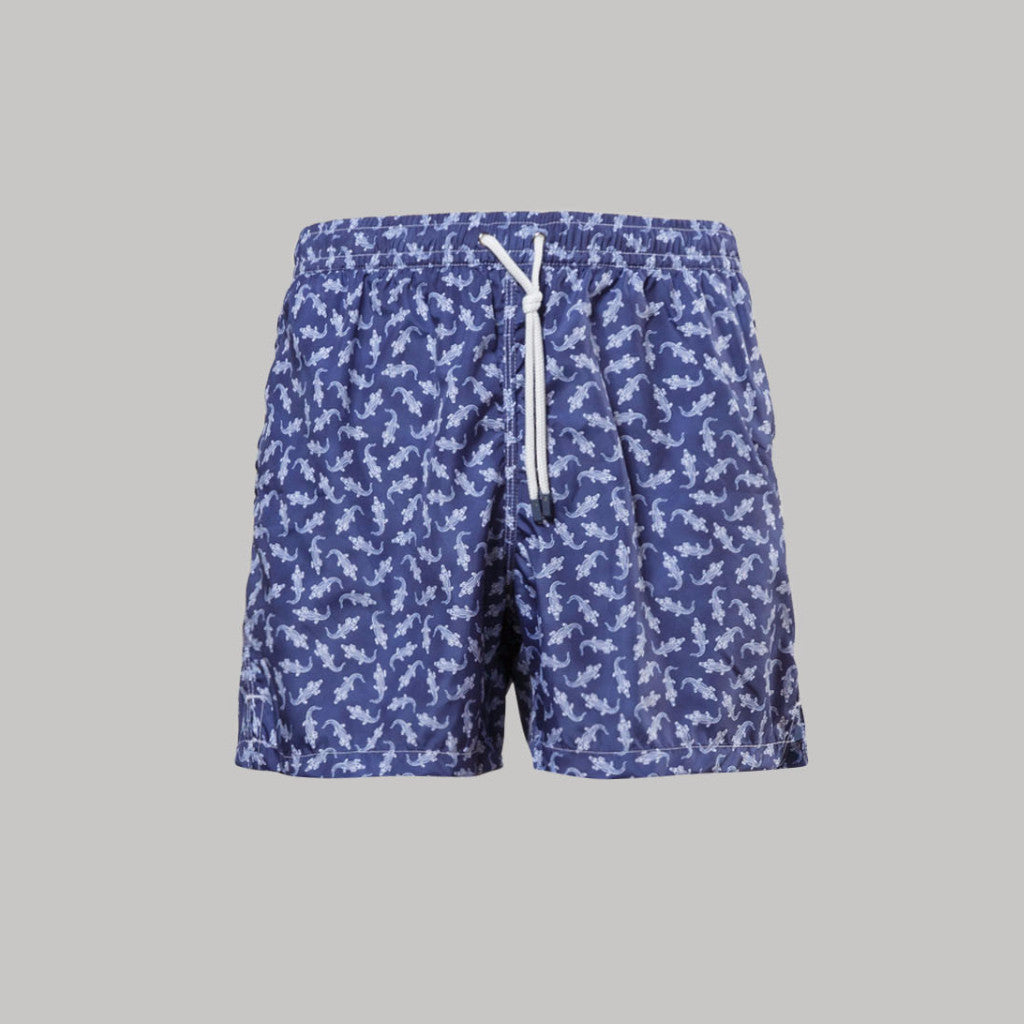 Fedeli Madeira Swimshorts Croco (Navy) - Union 22