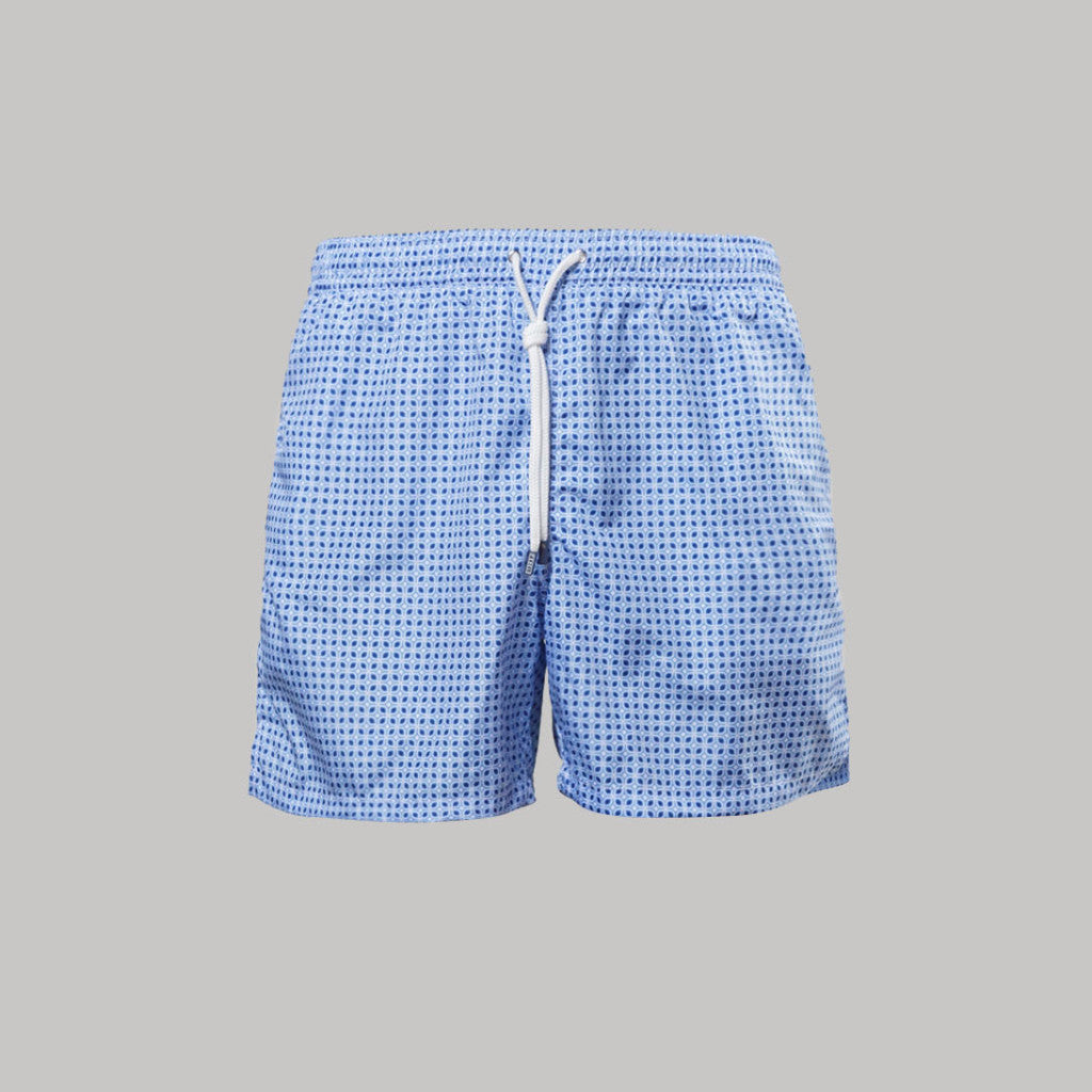 Fedeli Madeira Swimshorts Plumeria (Light Blue)