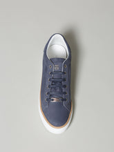Corneliani Contrast Sole Dress Trainer (Blue)