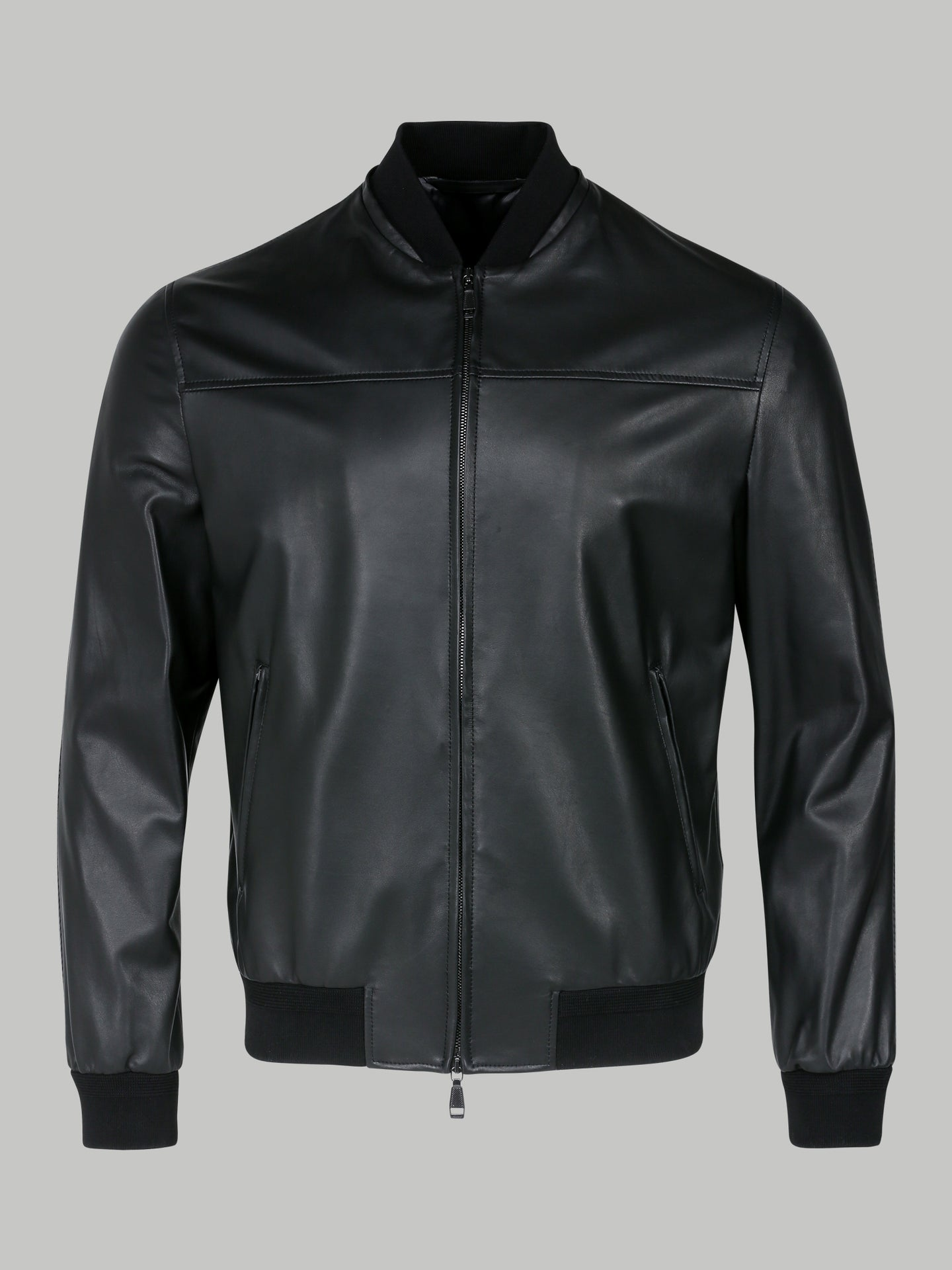 Brioni Leather Bomber (Black)