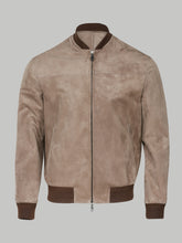 Brioni Suede Bomber (Brown)
