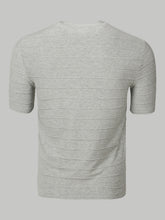 Armani Collezioni Pleated Stripe T-Shirt (Grey)