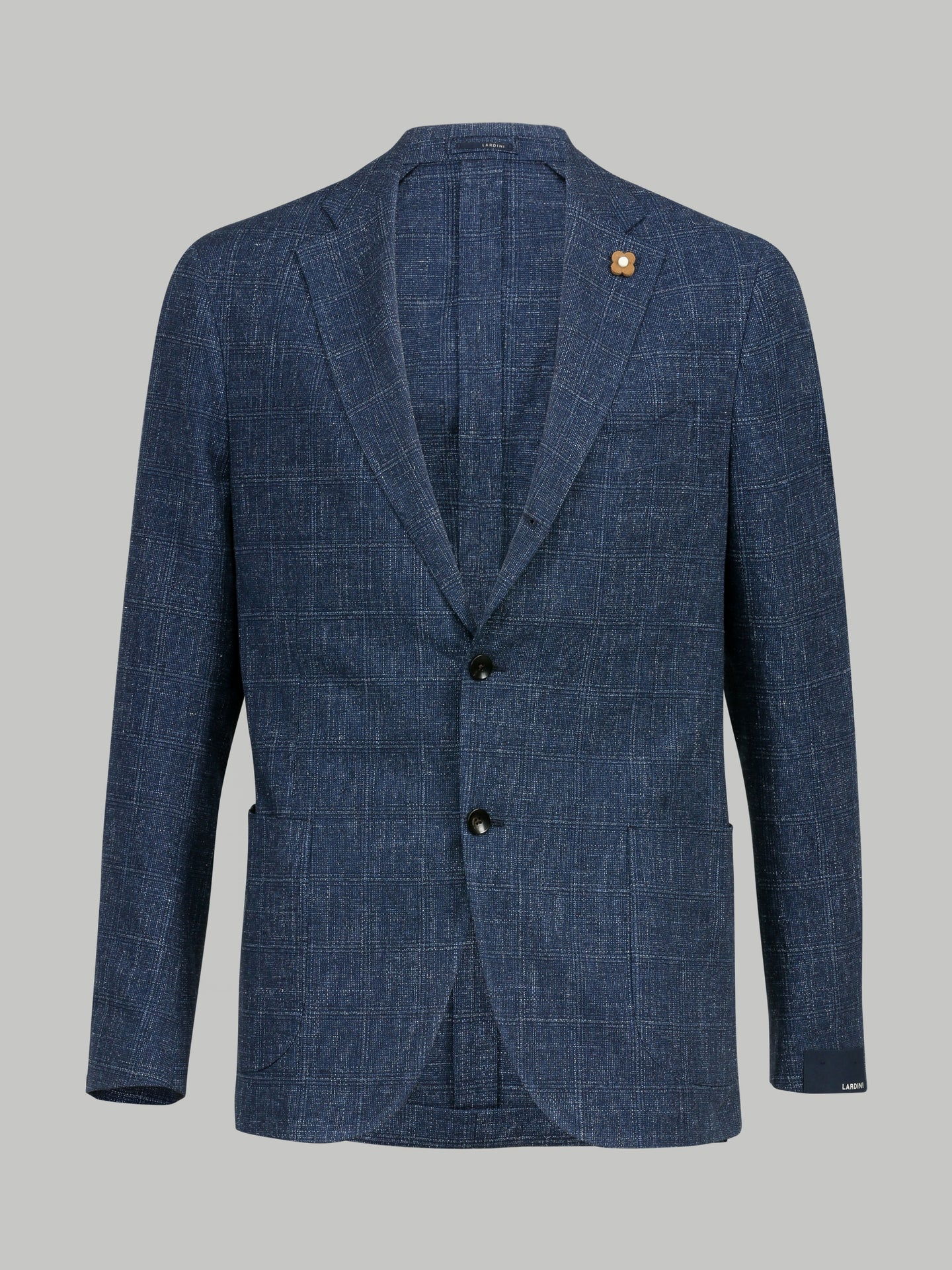 Lardini Grained Check Blazer (Blue) - Union 22