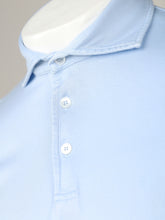 Fedeli Sea Island Cotton Polo (Blue)
