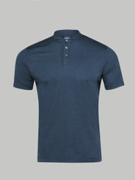 Fedeli Sea Island Cotton Polo (Navy)