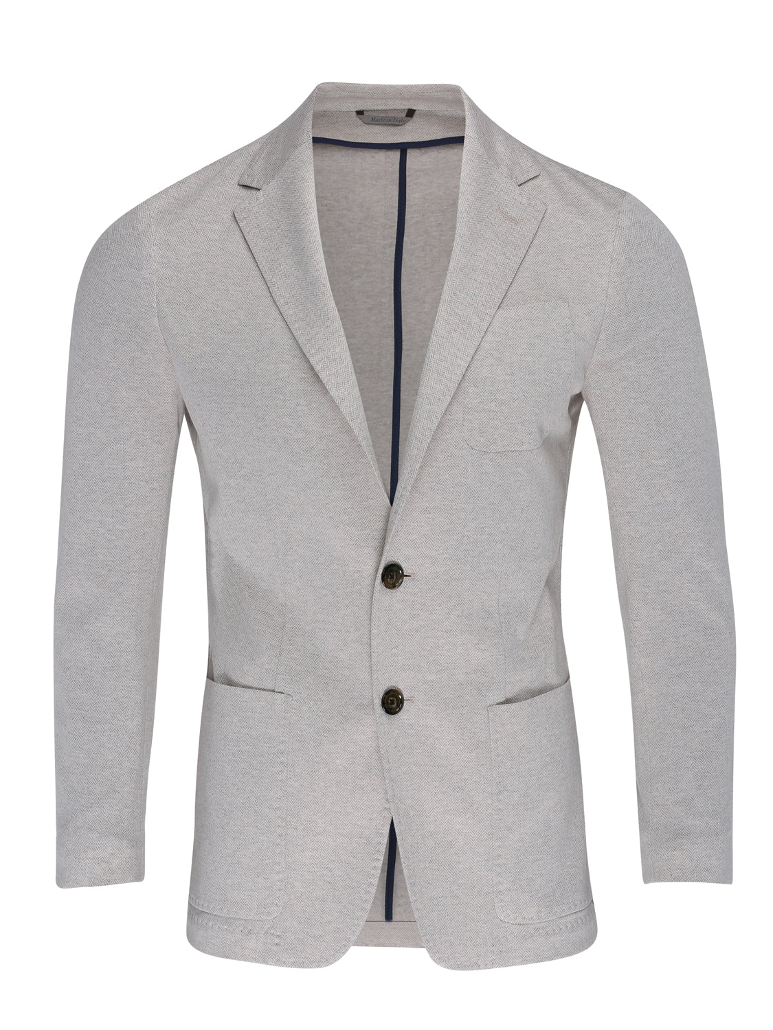Canali Herringbone Blazer (Cream) - Union 22