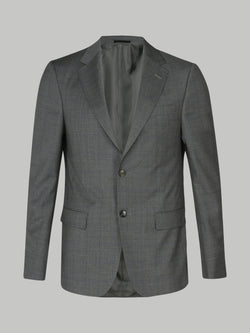 Z Zegna Check Suit (Light Grey)