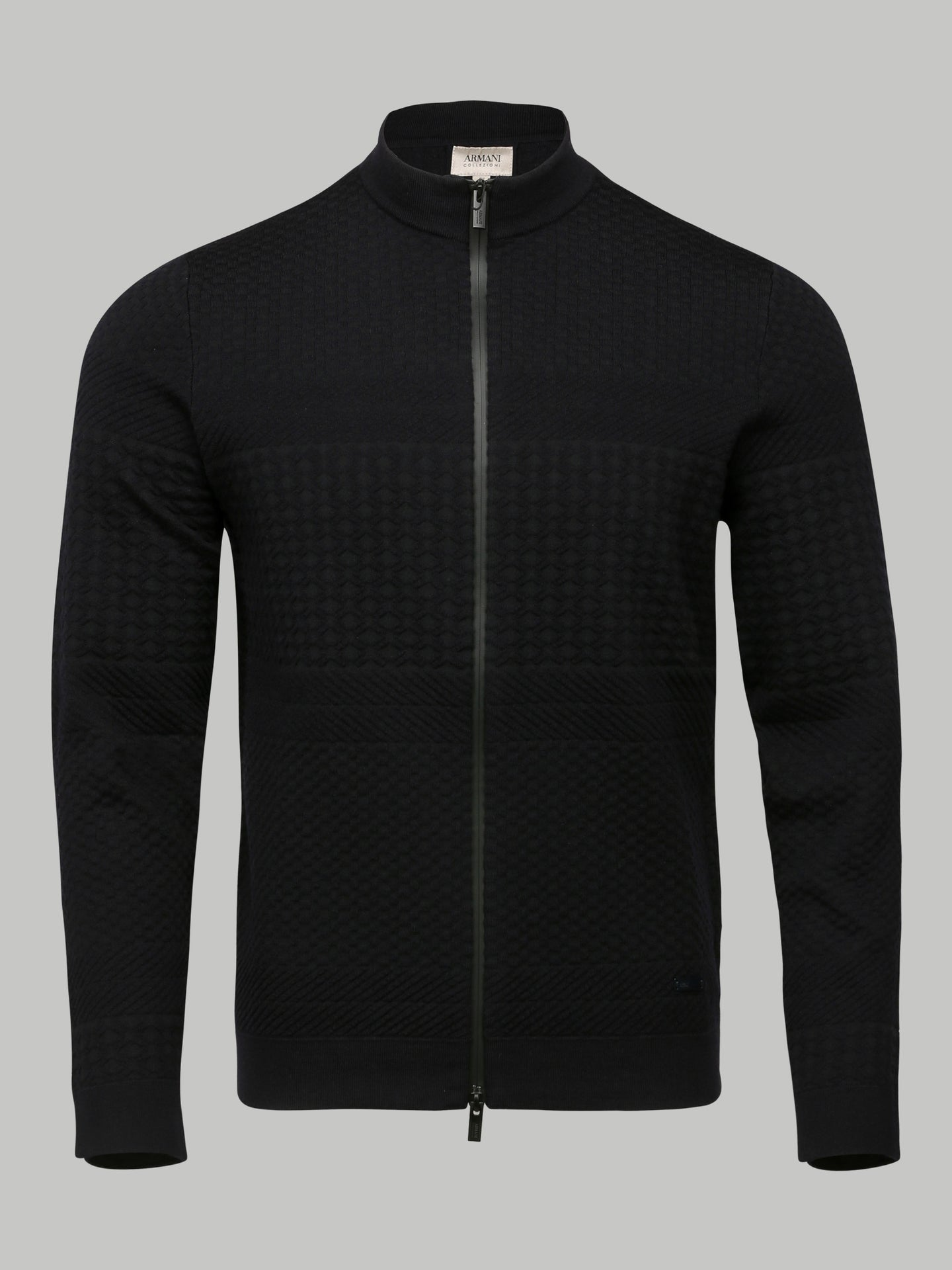 Armani Collezioni Knitted Bomber (Navy)