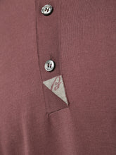 Brioni Branded Polo (Bordeaux)