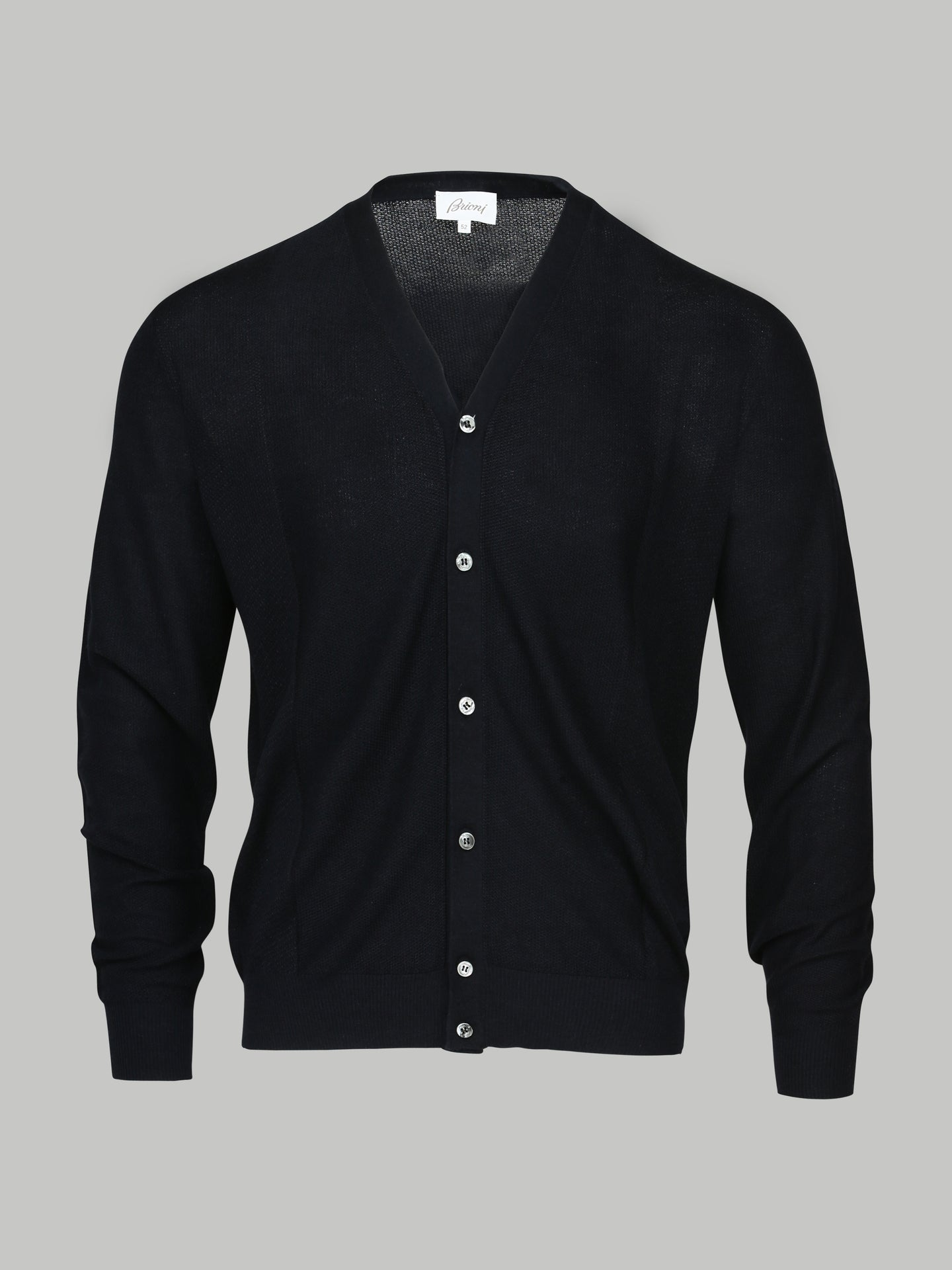 Brioni Wool, Cashmer and Silk Cardigan (Navy)