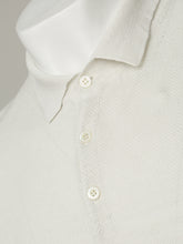 Corneliani Frosted Linen Polo (Frosted White)