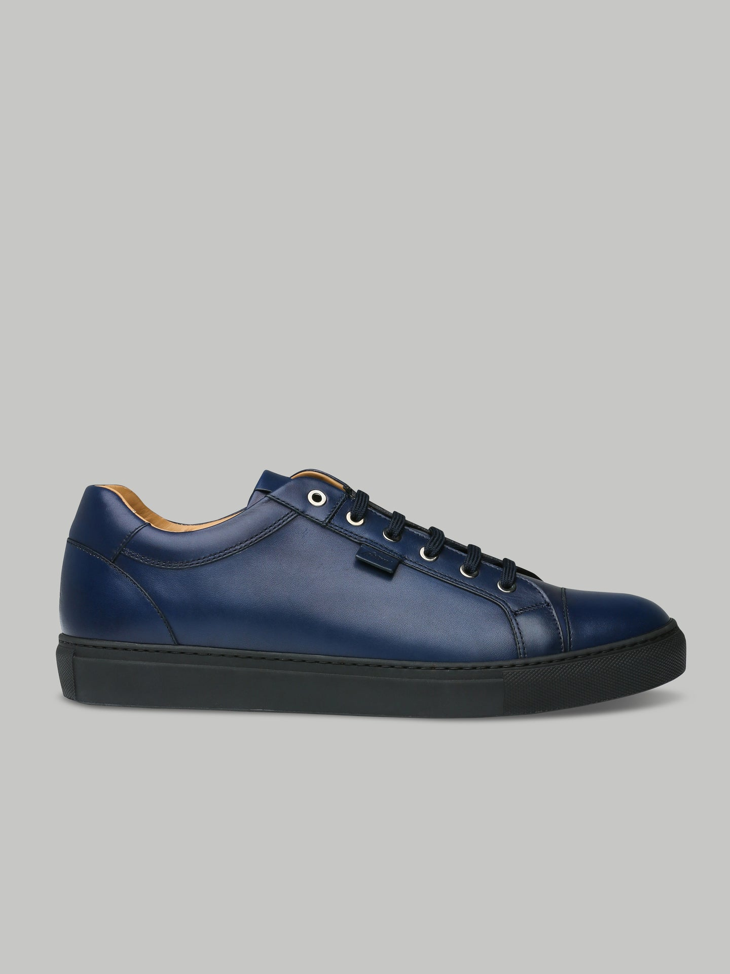Brioni Low Top Leather Trainer (Blue)
