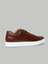 Brioni Low Top Leather Trainer (Tobacco)