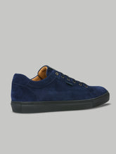 Brioni Low Top Suede Trainer (Navy)