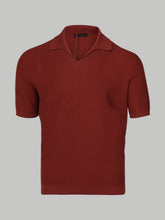 Ermenegildo Zegna Open Collar Polo (Red)