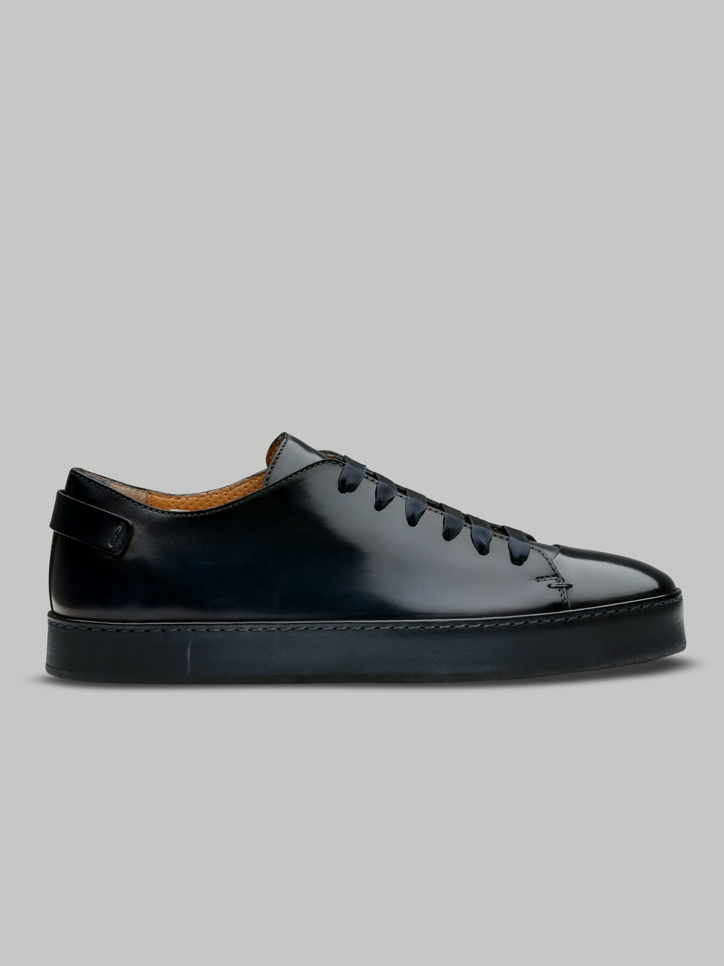 Santoni Full Leather Derby Low Top (Midnight Blue)