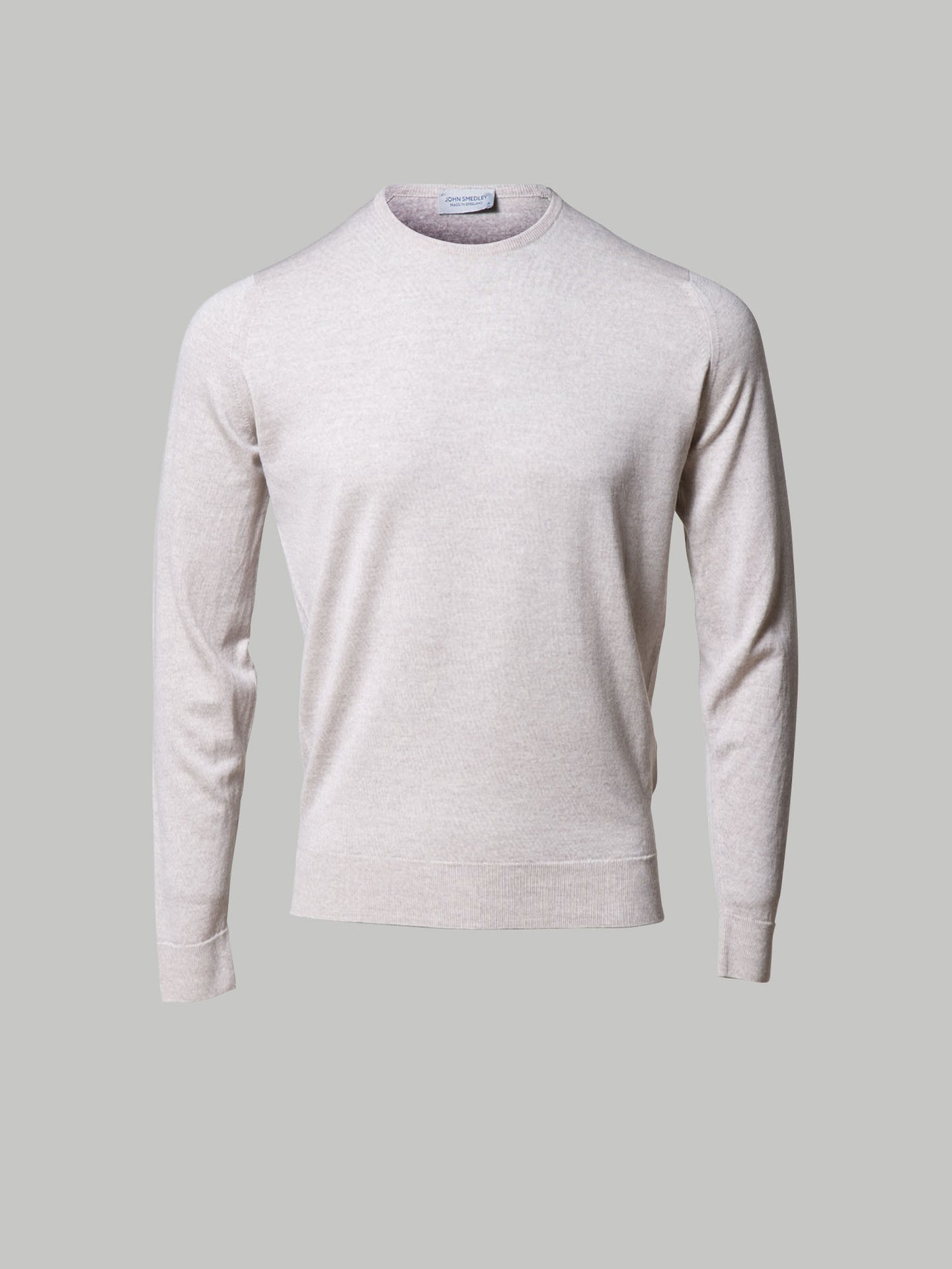 John Smedley Lundy Crew Neck Knit (Eastwood Beige)