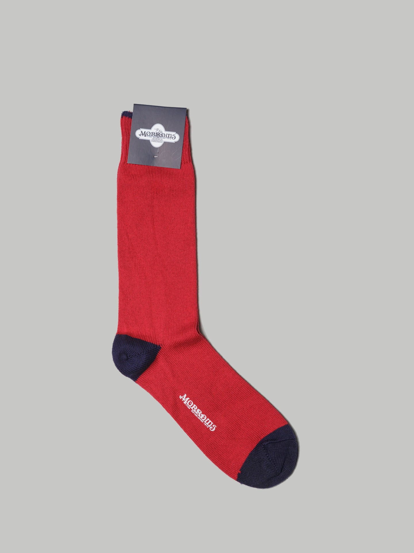 Morrows Roberts Heel Toe Cap Sock (Red Currant, Marine) - Union 22